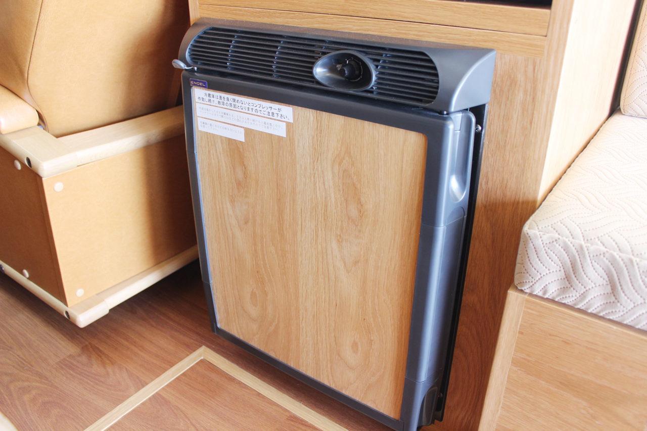 冷蔵庫完備でクーラーボックスいらず!